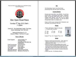 Club Road Race - Latest News / Programme