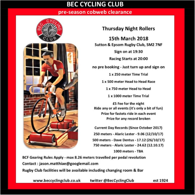 Roller Racing Event (15th March 2018)