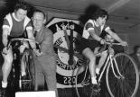 Audrey Kennedy and Daphne George on the Rollers with Support from Husbands, 1954